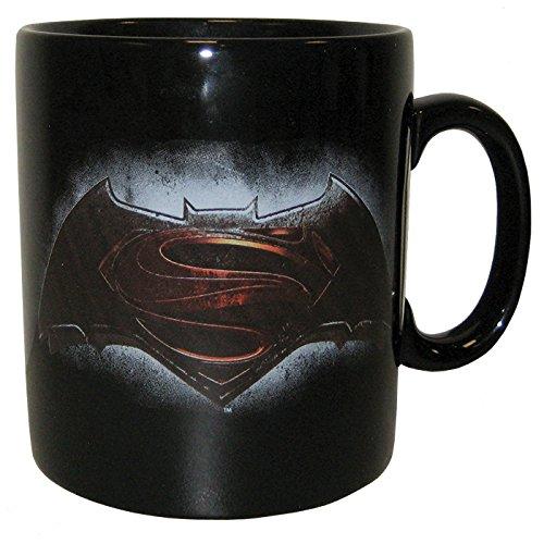 Westland Giftware Batman Vs Superman Emblem Ceramic Mug, 14 oz, Multicolor