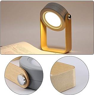 BLOOMWIN テーブルライト 間接照明 北欧 ナイトライト ベッドサイドランプ LEDライト 360度回転 充電式 常夜灯 3段階調光 携帯型 触摸式 読書 防災 停電用