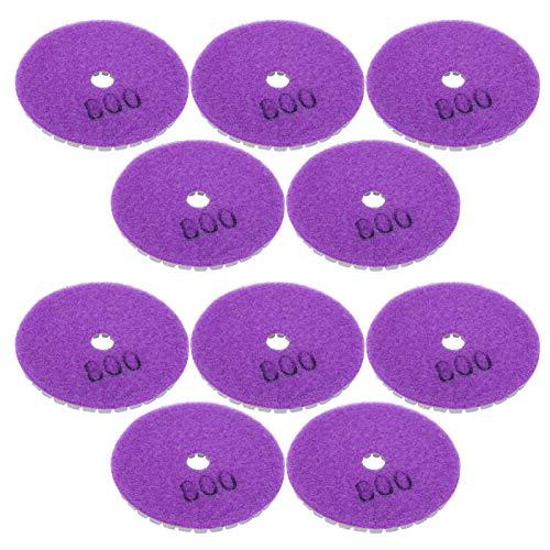 10 Uds placa de respaldo de pulido respaldo de pulido púrpura 800 grano tamaño compacto duradero para pulido de concreto