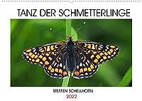 TANZ DER SCHMETTERLINGE (Wandkalender 2022 DIN A2 quer): Atemberaubende Tagfalterfotos des Fotografen Steffen Schellhorn (Monatskalender, 14 Seiten )
