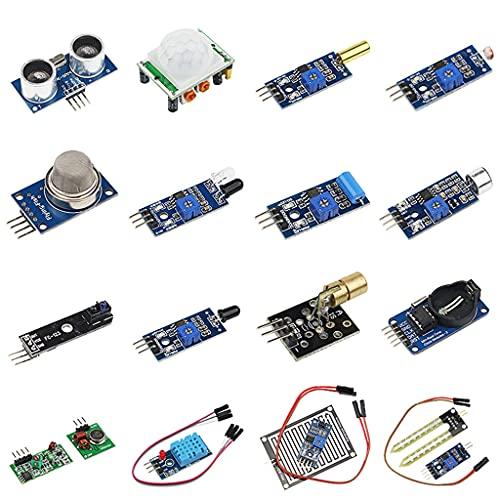 FEILINKA Ultimatives Starter-Set für Raspberry Pi mit 16 verschiedenen Sensormodulen, elektronische Komponenten, notwendiges Zubehör
