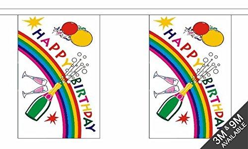 The Flag Wholesaler Le Drapeau grossiste B042060 Joyeux Anniversaire Bouteille géante fanions, Multicolore, 24 x 1 x 23 cm
