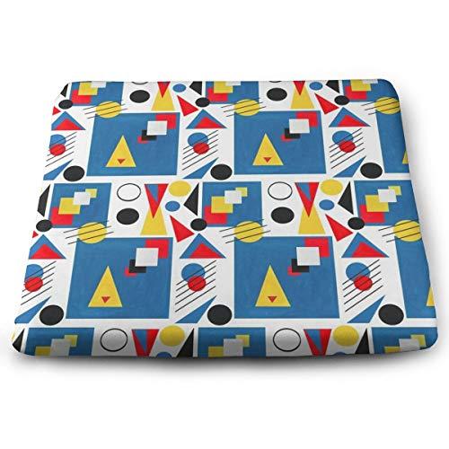 BathWang Stuhlkissen, Memory-Schaumstoff, ultimativer Komfort und Weichheit, quadratisch, 38,1 x 33 cm, Bauhaus-Papierausschnitte