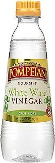 Pompeian Gourmet White Wine Vinegar, Bright & Fresh Flavor, Perfect for Salad Dressings, Shellfish & Sauces, 16 FL. OZ., P...