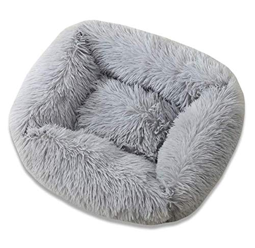 NA# Rectangular Dog Bed with Cushion, Pet Bed, Cat Bed, Dog Sofa, Cat Sofa Cushion, Fluffy for Cats, Dogs, Soft and Washable for Small, Medium, Large Pets, Choice of Sizes (S)