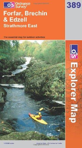 OS Explorer map 389 : Forfar, Brechin & Edzell