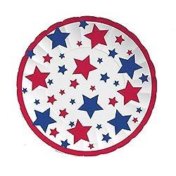 Patriotic Stars Paper Plates
