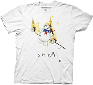 Ripple Junction Ghostbusters Stay Puft Roasted Illustration Adult T-Shirt