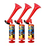 lahomia Pack of 3 Reusable Air Horn Sport Boat Safety Fog Horn