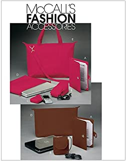 McCall's Patterns M6091 Tote, Laptop/Notebook Cases, Cord Cases, PDA Device Case and E-Book Reader Covers, One Size Only