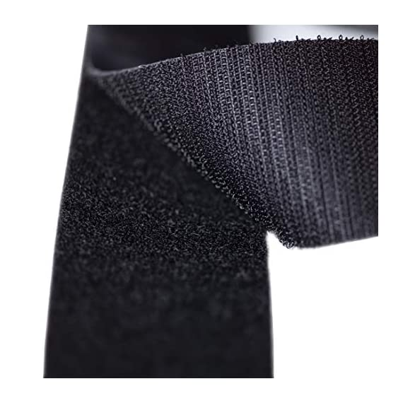 Strenco 2 inch adhesive black hook and loop tape - 5 yards - heavy duty strips - sticky back fastener 6 2 inch wide black hook and loop tape self adhesive (sticky back) straps/ strips by strenco its great for fastening. Hook and loop (complete double sided set) 5 yards (15 feet) long of each side. Sticks on glass, wood, plastics and other clean, flat surfaces.