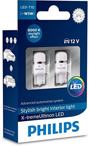 Philips 12799I60X2 X-tremeUltinon LED luz interior para coche W5W T10 6000K 12V,...