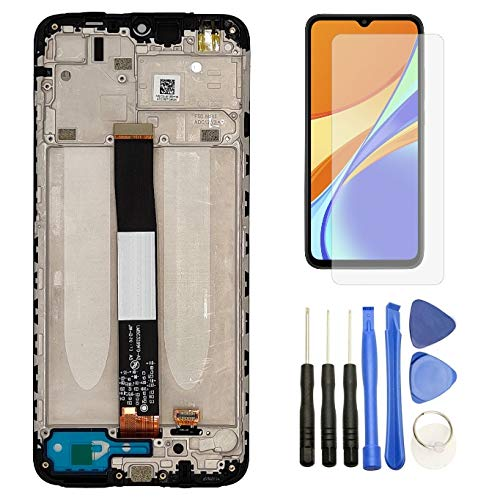 Hypak Pantalla IPS LCD para Xiaomi Redmi 9A y Redmi 9C (Completa con Marco) Repuesto Cristal Tactil Digitalizador