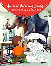 Animal Coloring Books For Kids Ages 4-8 Year Old: Animal Colouring Book Cartoon For Boys, Girls Toddlers & Teens Or Adult Best Xmas & Birthday Gifts With 100 Full Color Pages Vol 9