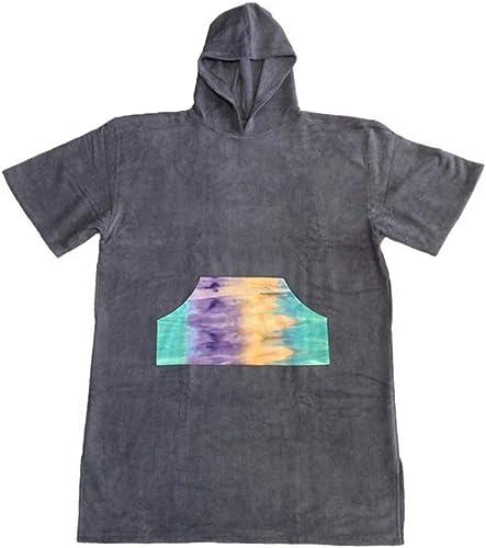 Poncho changeant de serviette de combinaison Peignoir poncho en coton avec serviette poncho pour adulte, peignoir à séchage rapide, remplaceHommest du costume de plongée, maillot de bain, compact et lége