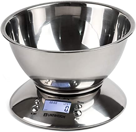 High Precision Stainless Steel Kitchen Scale Multi-Functional Home Baking Scales with Electronic Food and Medicine 5KG Contain The Battery