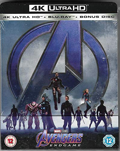 Avengers Endgame 4K Ultra HD Limited Edition Steelbook / Import / Includes 2D Region Free Blu Ray