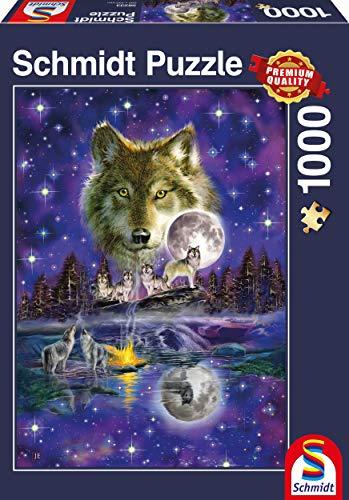 Schmidt Lobo en el Claro de Luna Superiores de la Calidad Rompecabezas (1000 Piezas)