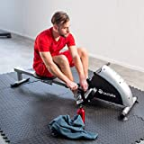 TecTake® Rudergerät Ruderzugmaschine Fitnessgerät mit Trainingscomputer - 7
