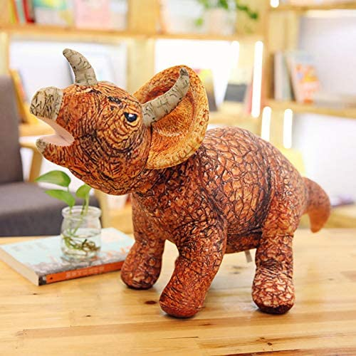 DONGER Big Dinosaur Toy Simulation Animal Größe Tyrannosaurus Puppe Triangle Dragon Doll Boy Sü Puppe, Triceratops,
