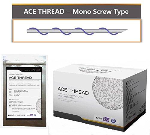 ACE PDO thread lift KOREA face/whole body - Mono Screw Type (100pcs) (29G60)