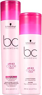 Schwarzkopf Professional BC color Freeze Silver Shampoo + Conditioner - 450ml (Combo)