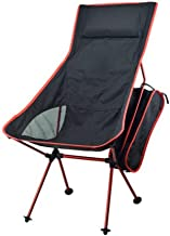 Light Folding Chair Lightweight Folding High Back Camping Chair with Headrest, Portable Compact for Outdoor Camp, Travel, ...