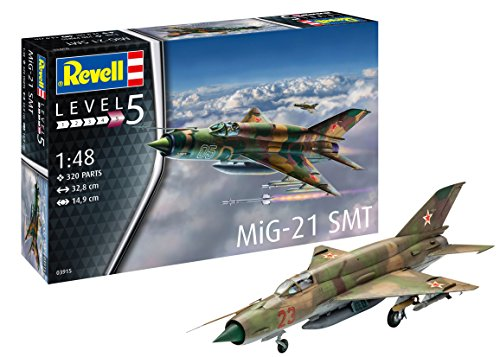 MiG-21 SMT Plastic Model Aircraft Kit, Various, 1:48 Scale - revell rv03915