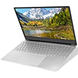 YELLYOUTH Laptop 15.6 inch Notebook Intel CPU Quad Core 8GB RAM 128GB SSD Full HD IPS with WiFi Bluetooth Mini HDMI Windows 10 Laptop Computer PC Silver