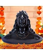 CraftVatika Resin Shiva Idol, 6 x 4.5 x 4 Inches, White, 1 Piece