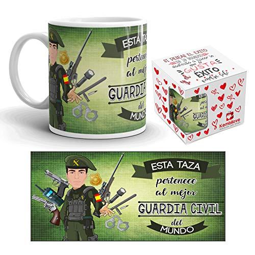 Kembilove Taza de Café del Mejor Guardia Civil del Mundo - Taza de Desayuno para la Oficina - Taza de Café y Té para Profesionales - Taza de Cerámica Impresa - Tazas de 350 ml para Guardias Civiles