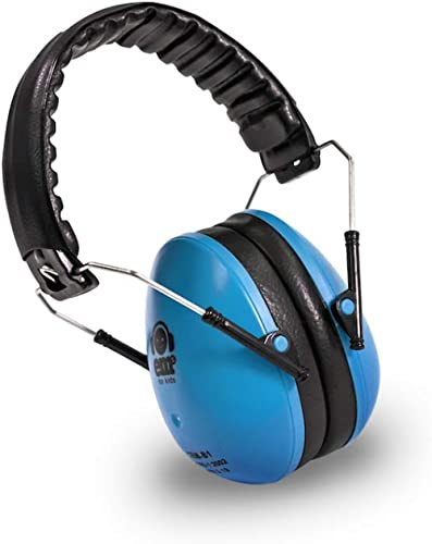 Ems for Kids Earmuffs - Blue. The Original Folding Children's Earmuff Since 2007. Use at Loud Events Including NASCAR...