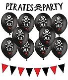 Piraten Deko Set Kinder Geburtstag Dekoration Set Pirates Party Deko Partykette Luftballons Piraten Party