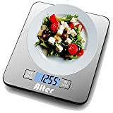Large Kitchen Scale Multi-Function Food Scale 30 lb / 15 kg, Silver, Stainless Steel Platform(Batteries Included)