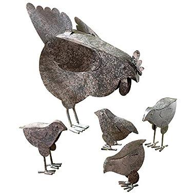 VERDUGO GIFT Mother Hen & Chicks Country Garden Sculpture Set