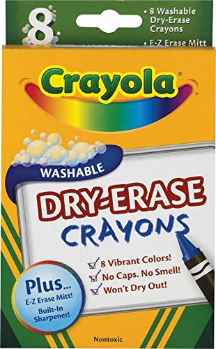 Binney & Smith Dry-Erase Crayons Classic Box of 8