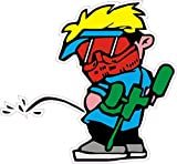 NetSpares 120453063 1 x Aufkleber Pissing Paintball Boy Guy Junge Sticker Shocker Tuning Fun Gag