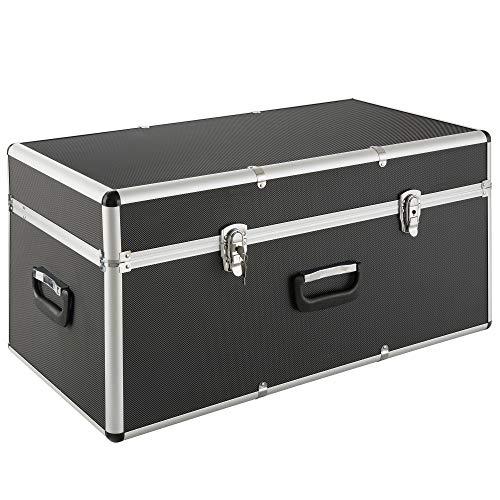 Arebos Transportkoffer/Aluminiumkoffer / 100L / Mit 3 Tragegriffen/Schwarzer ABS Korpus/Koffer Abschließbar