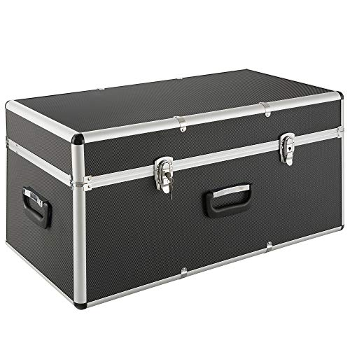 Arebos Transportkoffer/Aluminiumkoffer / 100L / XL XXL/Mit 3 Tragegriffen/Schwarzer ABS Korpus/Koffer Abschließbar