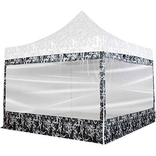 INSTENT® Pro Seitenwand/Seitenteil für Pavillon 3x3m mit XXL Panorama Fenster oder Reißverschluss, wasserabweisend & atmungsaktiv, Farbwahl, für Festzelt, Partyzelt