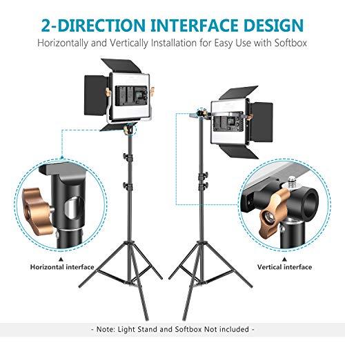 Neewer 2 Packungen Erweiterte 2,4 G 480 LED Video Licht Kit Beleuchtung Fotografie LED Panel zweifarbig verstellbar mit LCD Display Fernbedienung kabellos Halterung für Fotografie