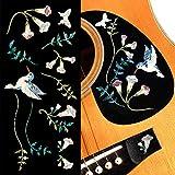 Assorted Hummingbird -Inlay Stickers Set- Abalone Blue