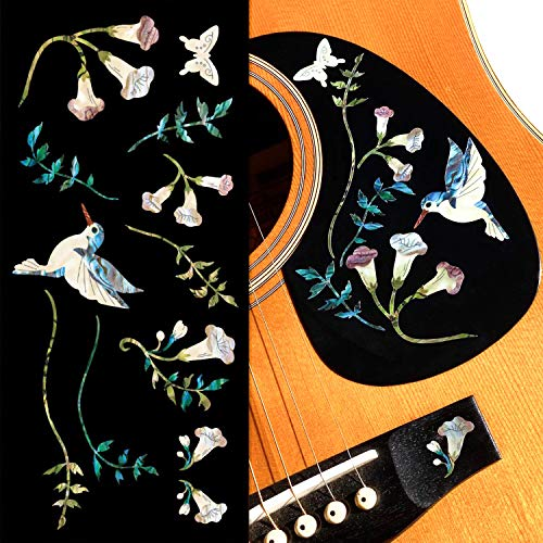 Inlaystickers für Gitarren und Bass - Assorted Hummingbird - Abalone-Blau
