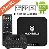 Smart TV Box Android 7.1 - Maxesla MAX-S II Mini TV Box de 2GB RAM + 16GB ROM,...
