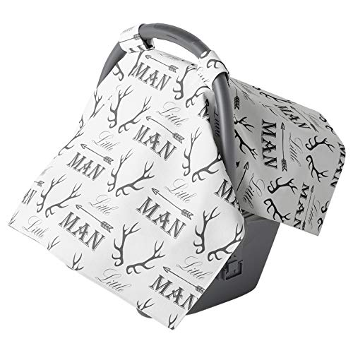 Car seat Covers for Babies - Carseat Canopy - Baby car seat Cover for Newborn boy and Infant Boys (Little Man)