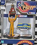 Dale Earnhardt Sr #2 Mike Curb 1st Championship Win 1980 Hasbro 4 Inch Tall Action Figure With 1980 NASCAR (Not Winston Due to Toy) Cup Trophy and 1/64 Scale Diecast Car Winners Circle Hard To Find