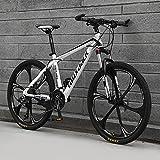 Bicicleta Montaña 26' Hombre, 21-30-Velocidad All-Terrain Bike Mountain Bike De Acero De Alto Carbono con Tenedor De Suspensión, Frenos De Disco,D,24 Speed