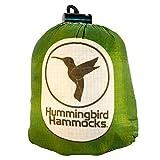 Hummingbird Hammocks(ハミングバードハンモック) ダークグリーン シングル ハンモック 147g ツリーストラップ 42g 超軽量 コンパクト 高強度(パラシュート素材)簡単設営 【日本正規品】キャンプ アウトドア ウルトラライト UL ソロキャンプ ブッシュクラフト サバイバル 等で活躍