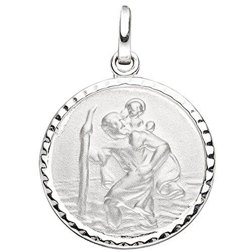 JOBO Damen-Anhänger Christopherus aus 925 Silber