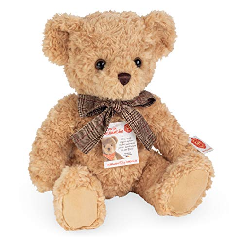 Teddy Hermann 91373 Teddy-Bär beige 35 cm mit Brummstimme , Kuscheltier, Plüschtier